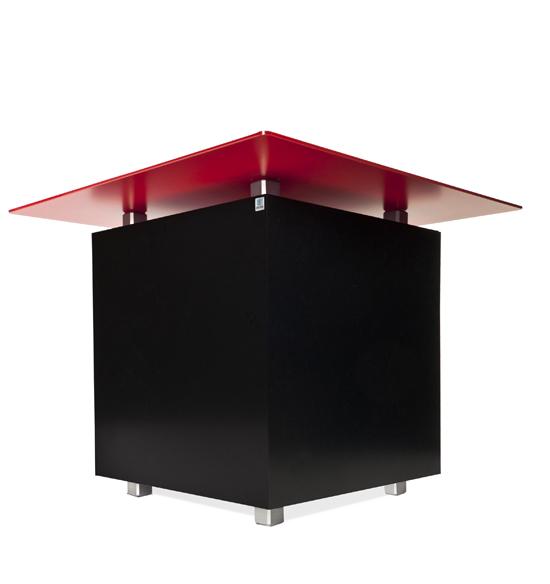 Loungetisch Messetisch mit Ihrem Logo, verkleidung wechselbar