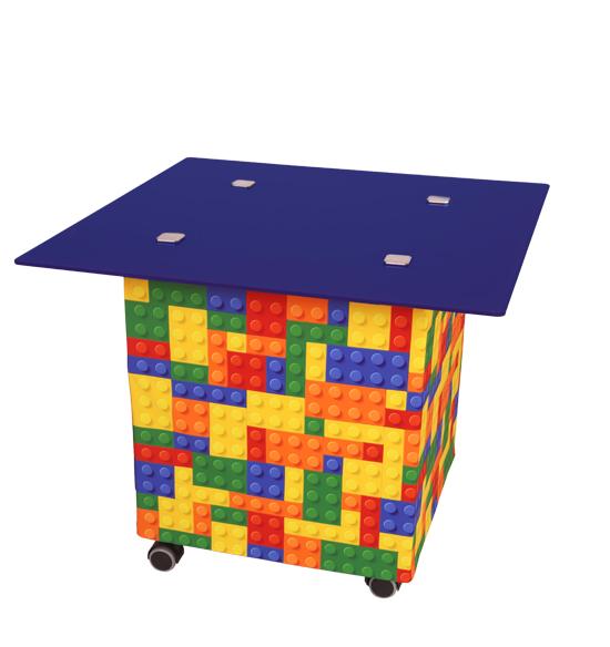Rollbarer Messetisch Loungetisch mit Fotodruck oder Logo
